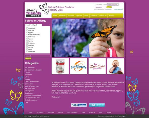 Mantisshop Ecommerce Web Site Design Examples